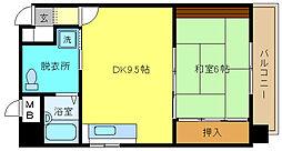 兵庫県姫路市広畑区西夢前台4丁目の賃貸マンションの間取り