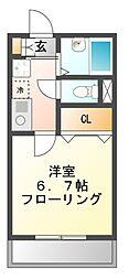 ロングインA・B[2階]の間取り
