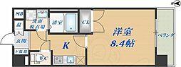 CASSIA高井田NorthCourt 6階1Kの間取り