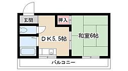 本郷パークハウス[2F号室]の間取り