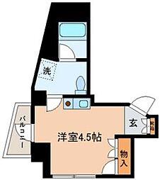 ラ・フィーユ[2階]の間取り