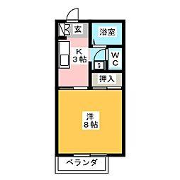 コーポマウントスリー[1階]の間取り