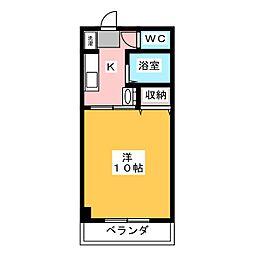 アジュール下中野[2階]の間取り