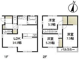 JR山陽本線 岡山駅 6.5kmの賃貸一戸建て 1階3LDKの間取り