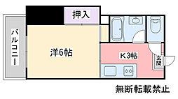 福岡県福岡市西区愛宕2丁目の賃貸マンションの間取り
