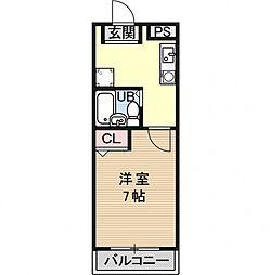 pure dormitory SHIMIZU[1102号室号室]の間取り