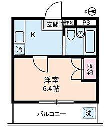 タチバナコーポ1[2階]の間取り