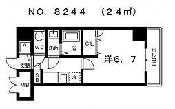 シャルマンフジ大阪城南[7階]の間取り