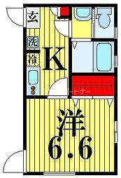 仮称 足立区西伊興1丁目新築アパート 2階1Kの間取り