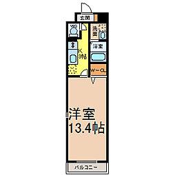 サンシャイン339 (サンシャインサンサンキュウ) 6階1Kの間取り