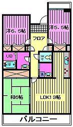 ウラワイーストシティかつら街2号棟[2階]の間取り