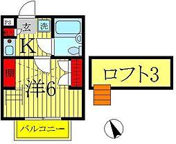 ジュネパレス松戸第156[2階]の間取り