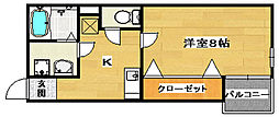 TKアンバーコート堺東[3階]の間取り