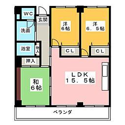 浦口ハウス[2階]の間取り