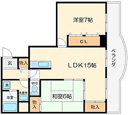 オークダイト[4階]の間取り
