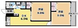 清水マンション[2階]の間取り