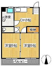 高野台レジデンス[1階]の間取り