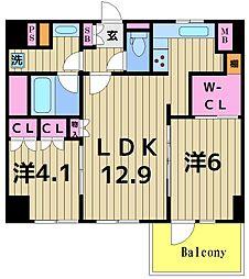 オープンレジデンシア綾瀬[302号室]の間取り