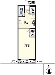 ビバ花田A棟[2階]の間取り