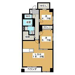 ファボリート御所南 堺町荘[3階]の間取り