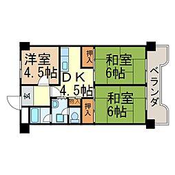 サンシャイン大須[804号室]の間取り