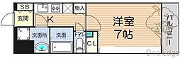 ララプレイス梅田東シエスタ[4階]の間取り
