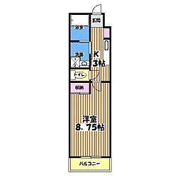スターダスト晴貞[4階]の間取り