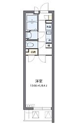 クレイノTハウス弥生町(58132-303) 3階1Kの間取り