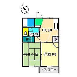 サンライズ伊藤B棟[2階]の間取り