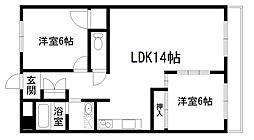第10長栄アビタシオン清水[2階]の間取り