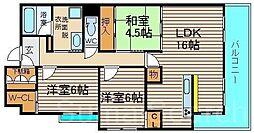 インペリアル鳳[2階]の間取り