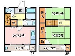 [テラスハウス] 三重県松阪市川井町 の賃貸【/】の間取り