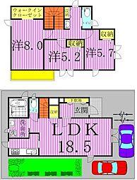 [一戸建] 千葉県柏市光ケ丘1丁目 の賃貸【/】の間取り