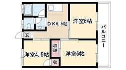 愛知県名古屋市守山区中新1丁目の賃貸マンションの間取り