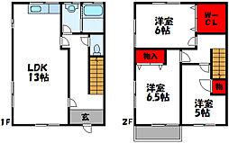 JR鹿児島本線 古賀駅 徒歩15分の賃貸アパート 2階3LDKの間取り