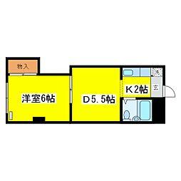北海道札幌市東区北九条東2丁目の賃貸マンションの間取り