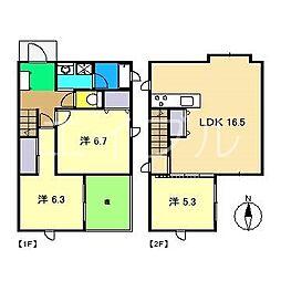 貸家(宝永町7−13−2)北棟[1階]の間取り
