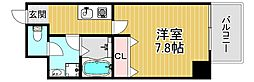 TOYOTOMISTAYPREMIUM梅田西II 6階1Kの間取り