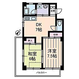 ベルカディーマンション[0301号室]の間取り