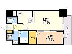 ビリーヴ ルーム 2階1LDKの間取り