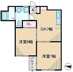 内田ビル[5階]の間取り