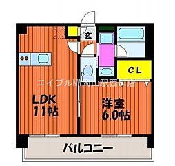エスプリ-M[2階]の間取り