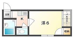 大阪府寝屋川市長栄寺町の賃貸マンションの間取り