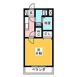 リヴエターナル[2階]の間取り