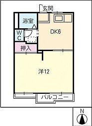 タウニー八王子[2階]の間取り