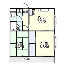 新潮通り一番館[3階]の間取り