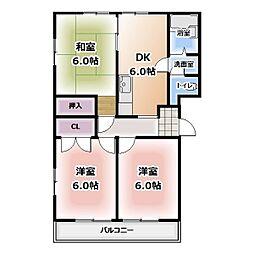 愛知県名古屋市西区平出町の賃貸マンションの間取り