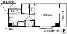 スタシオン梅田イースト 8階1Kの間取り