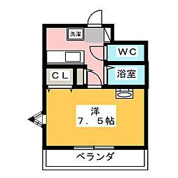 第8田畑ハイツ[3階]の間取り