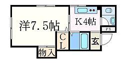 リブマックス夙川常磐町[103号室]の間取り